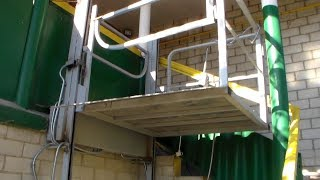 Вертикальный подъемник для инвалидов Установка монтаж испытание
