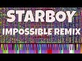 IMPOSSIBLE REMIX - Starboy - The Weeknd ft. Daft Punk - Piano Cover