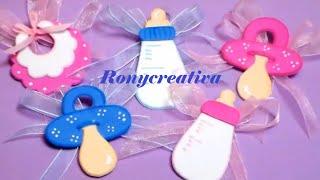 Distintivos para BABY SHOWER / Baby Shower souvenirs DIY