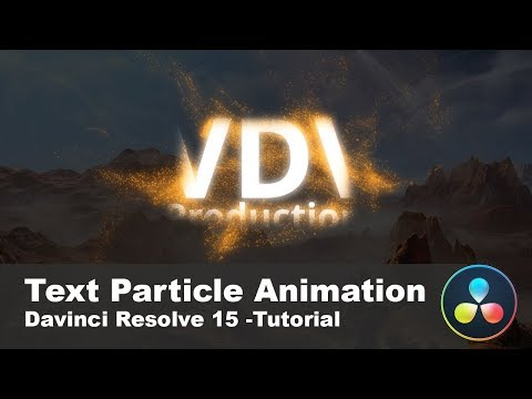 Amazing Text Particle Animation with DaVinci Resolve 15 & Fusion