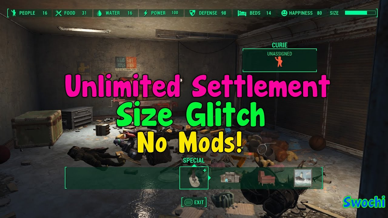 Fallout 4 Increase Settlement Size on consoles! (No Mods Required ...