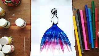 How To Draw A Beautiful Girl Painting For Beginners