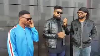 Basket Mouth and  Igodye Comedy  skirt  in London  after  Lord  of the Ribs  2018