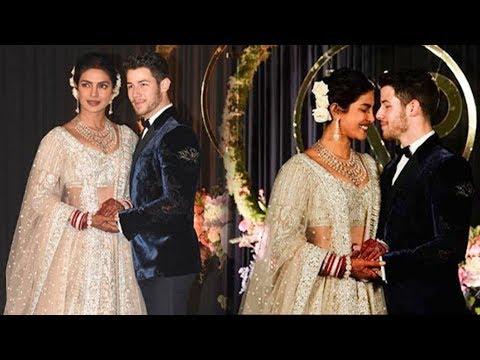 Newly Married Priyanka Nick Jonas Grand Entry At Reception In Delhi 2018