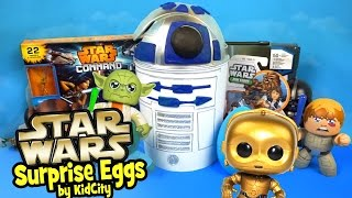 Star Wars Toys Unboxing with Star Wars Play-Doh Surprise Egg and Star Wars Rebels Toys by KidCity