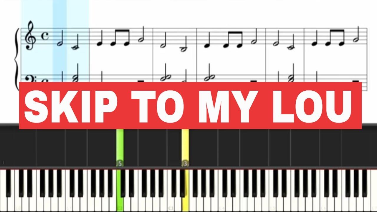Skip To My Lou Piano Slow Sheet Music Beginner Youtube