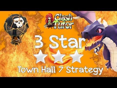 Clash of Clans TH7 Balloon Dragon (Dragoon)  3 star Clan War