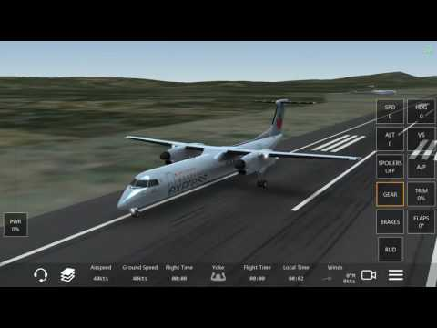 Infinite flight dash 8 full flight Air Canada event