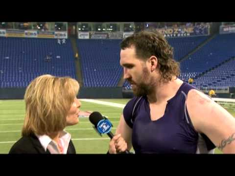 Lesley Visser: Jared Allen 2010 Vikings Playoffs Post Game