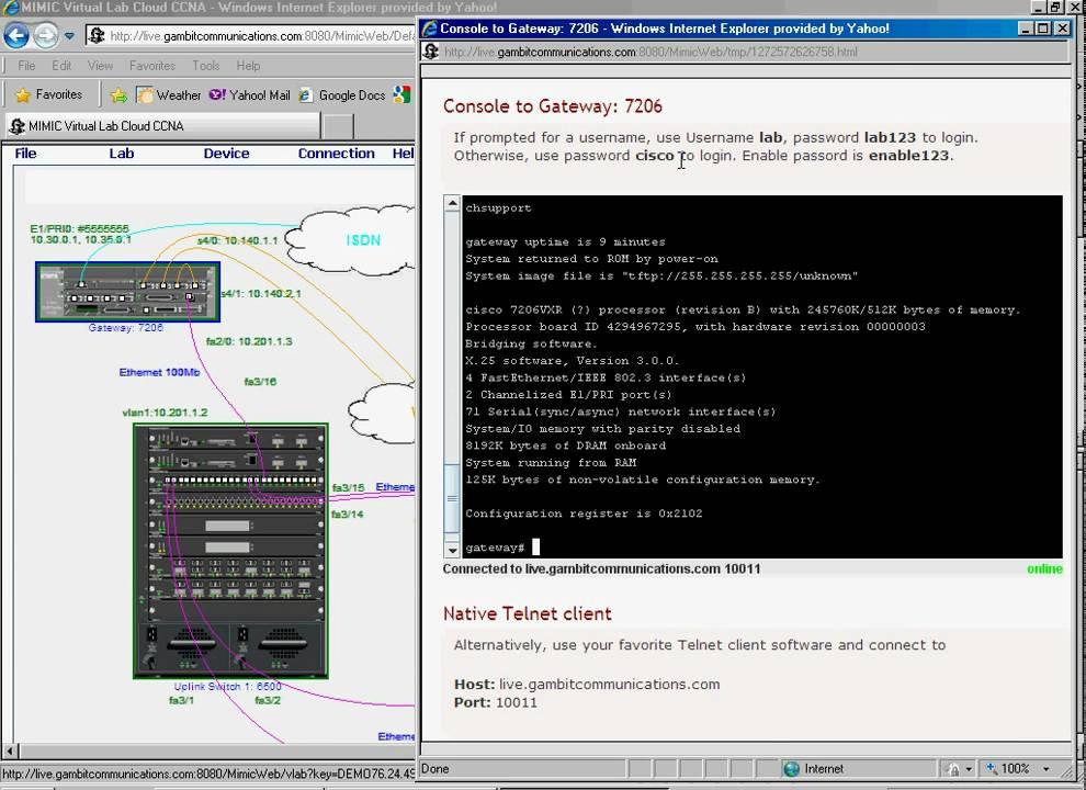 MIMIC Virtual Lab CCNA