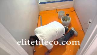 Part 3 How To Install Wood Look Plank Tile On Schluter Ditra: Installing The Ditra