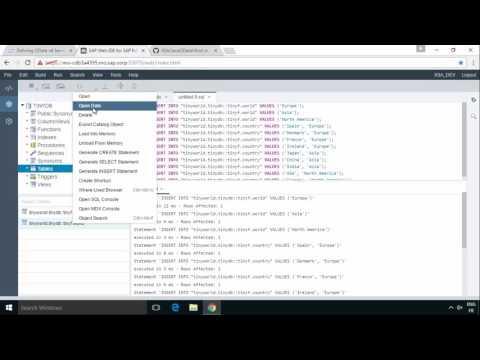 SAP HANA Academy - Web IDE for HANA: OData v4 with Java - Part 1 [2.0 SPS 00]
