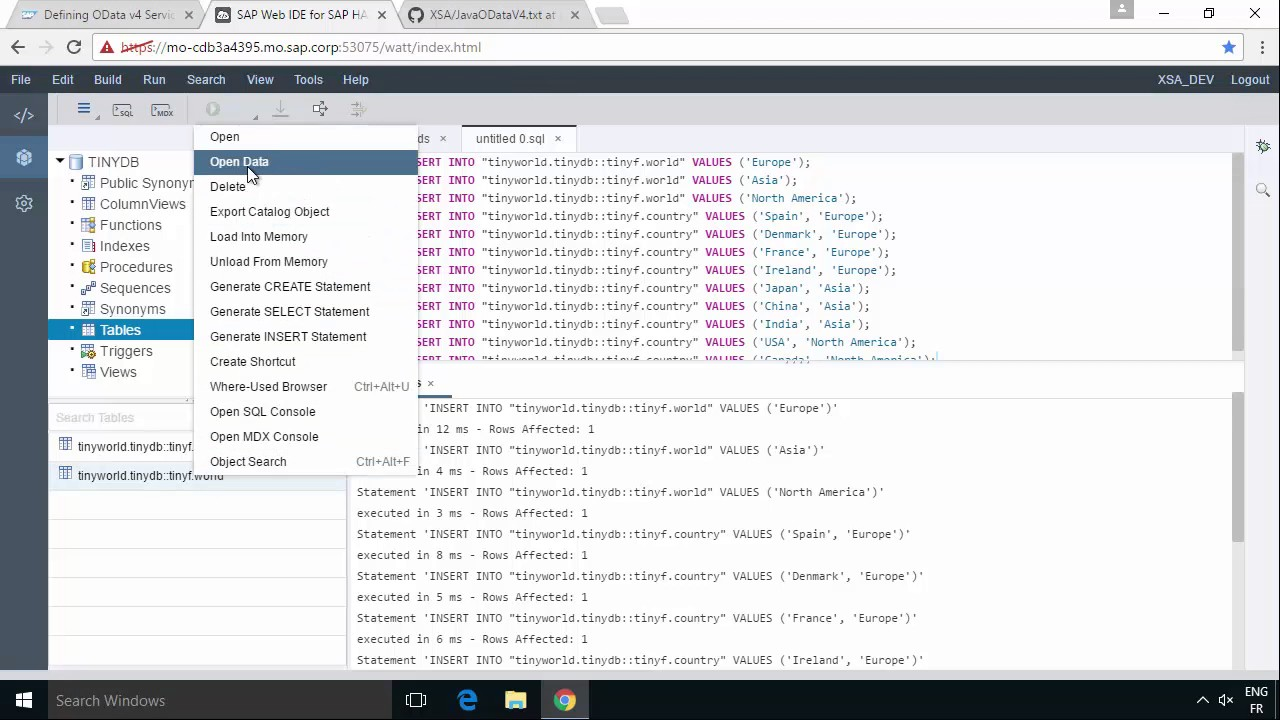 SAP HANA Academy - Web IDE for HANA: OData v4 with Java - Part 1 [2 0 SPS  00]