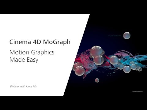Webinar: Cinema 4D MoGraph – Motion Graphics Made Easy