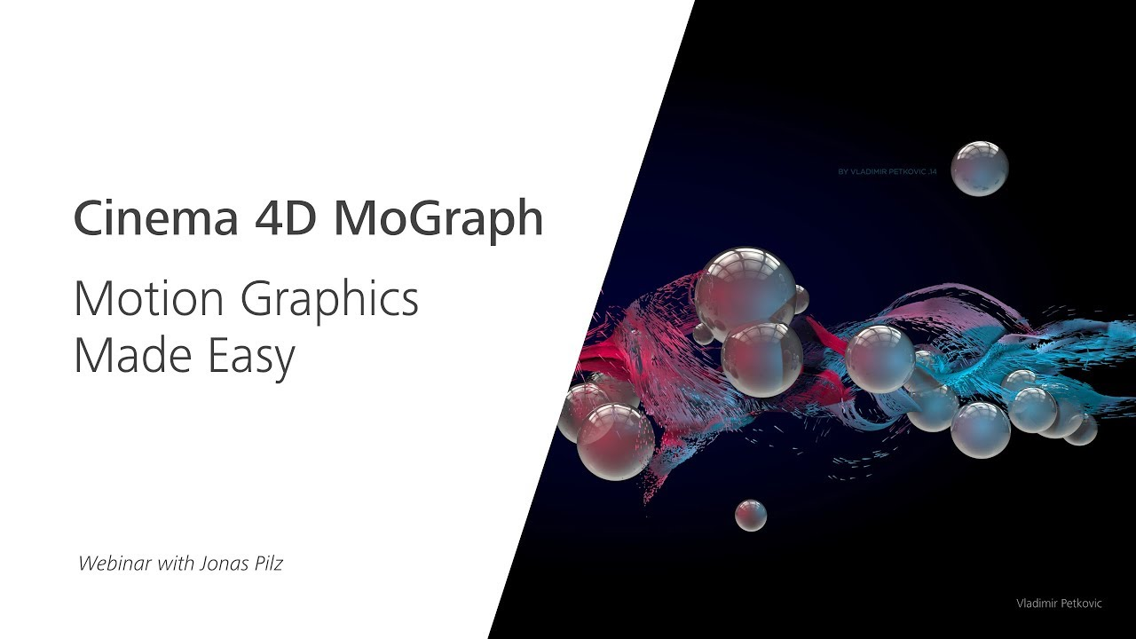Webinar: Cinema 4D MoGraph - Motion Graphics Made Easy - Renderosity