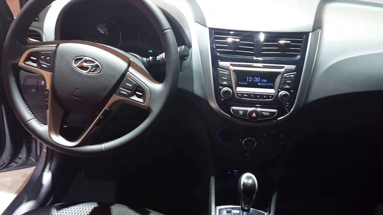 2016 Hyundai Accent Hatchback Interior 2016 Chicago Auto Show Youtube