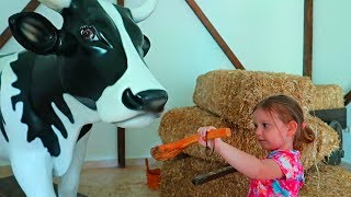 Kids Play Professions At The Farm | Funny Story in the Children's Museum