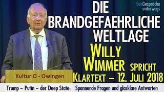 Willy Wimmer - Die brandgefährliche Weltlage - Klartext vom 12. Juli 2018
