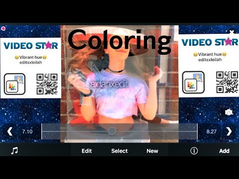 How to add coloring on video star!