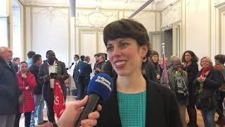 Réaction de Lisa Mazzone (Les Verts), qui triomphe au second tour