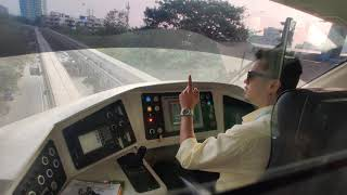 Mumbai Monorail - Captain Using Japanese way to point at things for safety