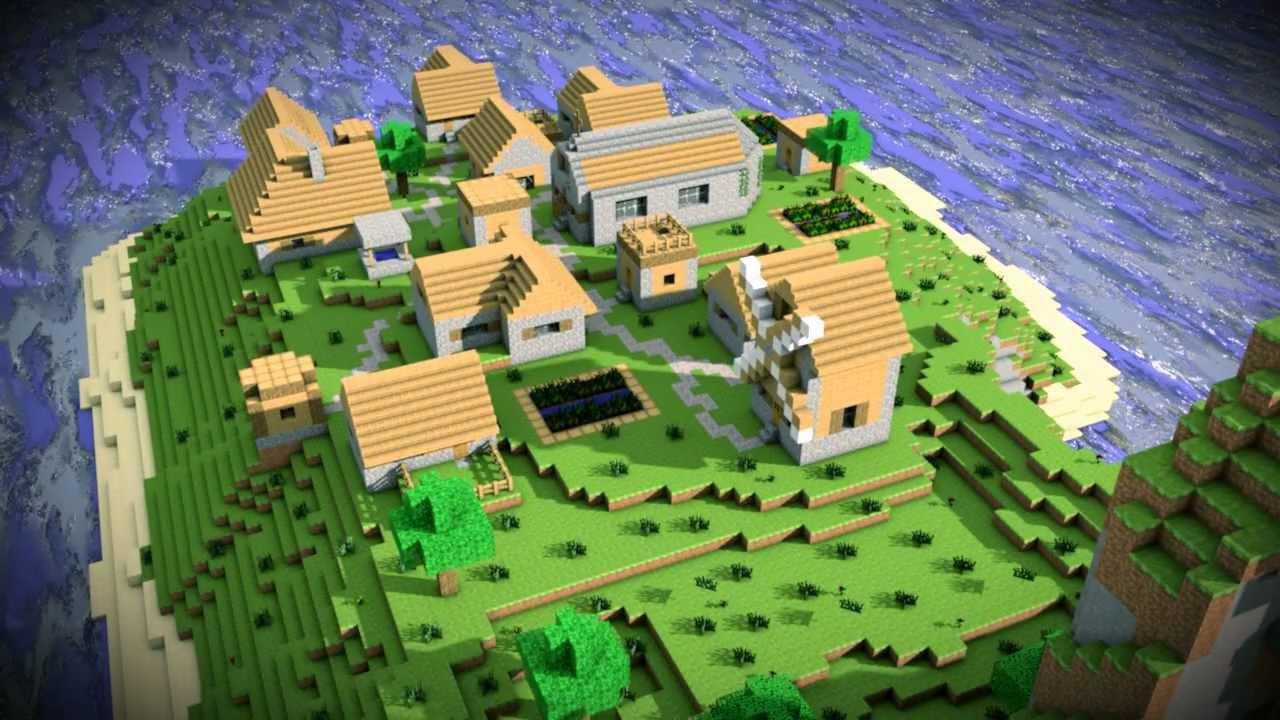 Minecraft 3d village map world cinema 4d youtube gumiabroncs Gallery