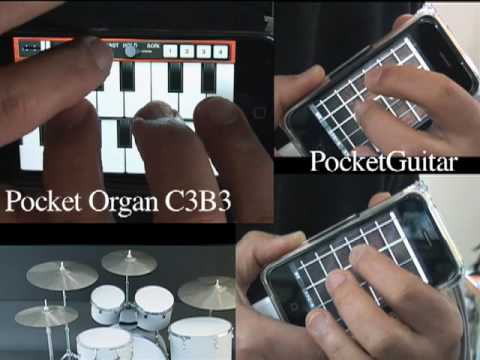 Deep Purple - Smoke on the Water Cover : Pocket Organ C3B3 & PocketGuitar