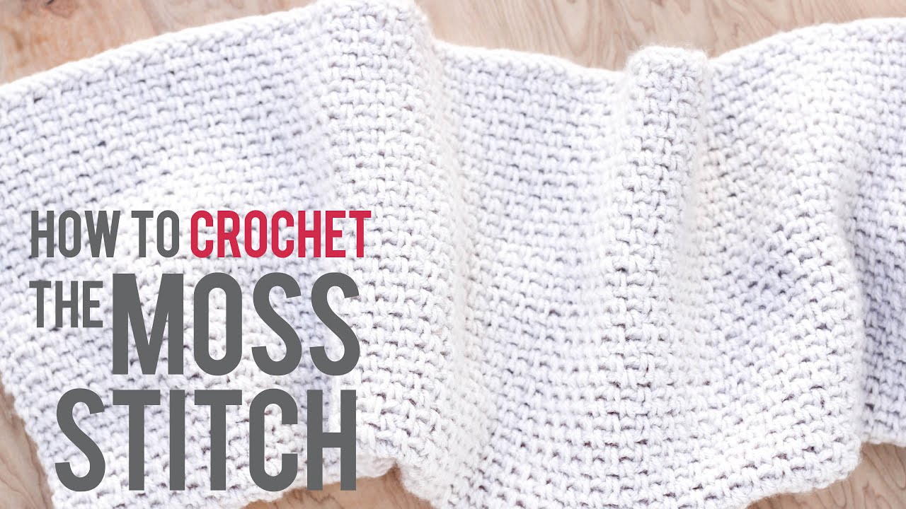 How to Crochet the Moss Stitch: Beginner-Friendly Tutorial - YouTube