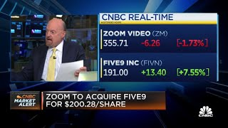 Jim Cramer on Zoom-Five9: People like the deal due its cloud-based service