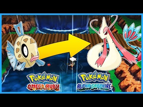 Pokemon OmegaRuby & AlphaSapphire - How To Get Feebas & Evolve Into Milotic