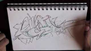 "NEW GRAFFITI SKETCH - ""100K"" Blackbook Session"