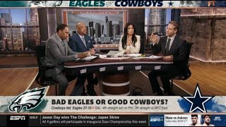 "First Take | Stephen A. & Willbon ""reacts"": Prescott (239Yds, TD) lead Cowboys dominate Eagles 37-10"