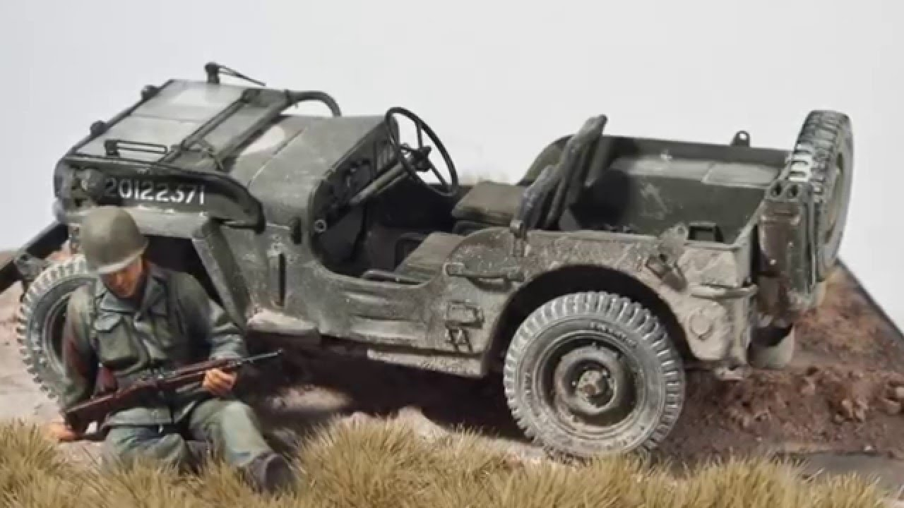 Ep71 Tamiya 1 35 Willys Jeep Vignette Youtube