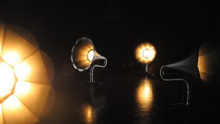 GRAMOPHONE LAMPS by CHRIGU BLUM