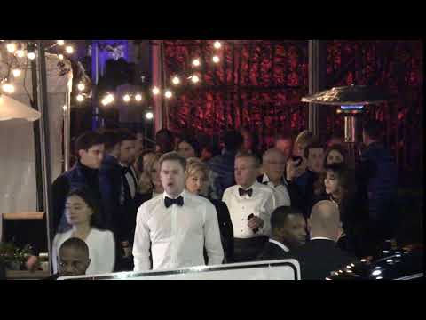 Emma Watson and Chord Overstreet outside the Vanity Fair Oscar Party in Beverly Hills