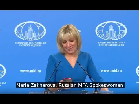 Zakharova Having A Laugh At UK Foreign Office For Deleting The Tweet