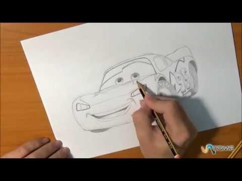 Impara a disegnare saetta mcqueen del film di cars youtube for Cars 2 da stampare