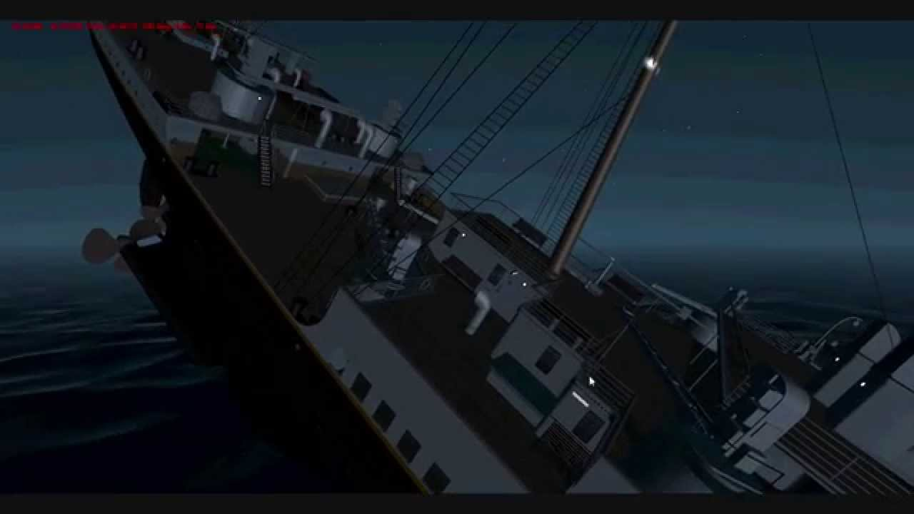 R.M.S. Titanic Sinking In Virtual Sailor 7 - YouTube