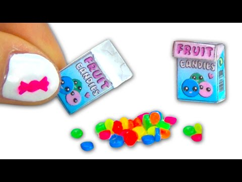 Miniature doll sweet candies and candy box DIY tutorial - YolandaMeow♡
