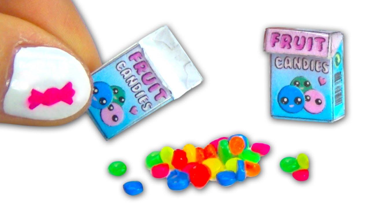 Miniature doll sweet candies and candy box DIY tutorial - YolandaMeow? - YouTube  sc 1 st  YouTube & Miniature doll sweet candies and candy box DIY tutorial ... Aboutintivar.Com