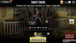 Turkey token 16 pull - the look on my face