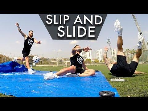 Tiros Resbaladizos de Fútbol - SLIP N SLIDE Challenge (Football Tricks Online)