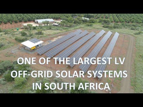 Largest low voltage off-grid solar farm in South Africa - No