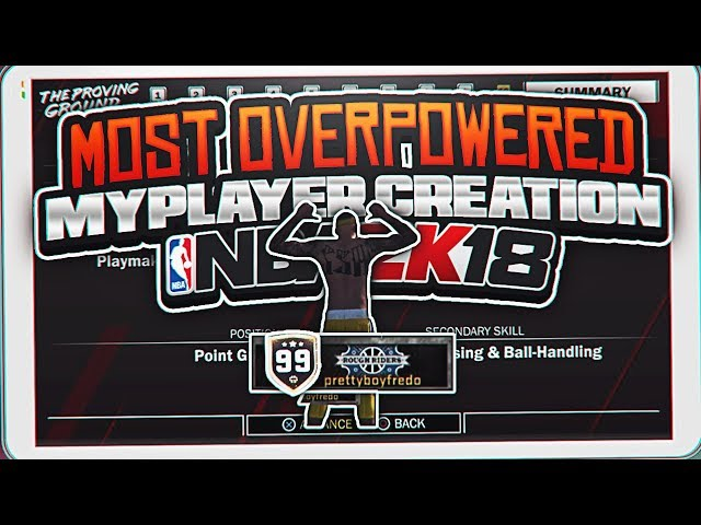 THE MOST OVERPOWERED MYPLAYER CREATION!!!! THE RETURN OF THE CLAMP GOD NBA 2K18