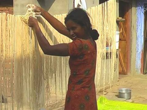 Noodles making in Rajasthan