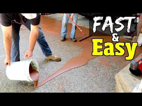 How to Resurface Concrete for Beginners Part 2 $660 DIY Driveway repair / restoration project