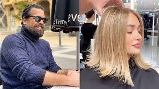 Mounir Salon New Hair Color Transformation Videos | Mounir Hair Coloring Most Secrets Techniques
