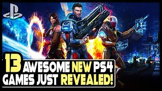 13 AWESOME NEW PS4 GAMES JUST REVEALED - OPEN WORLD GAME, HORROR RPG + MORE!