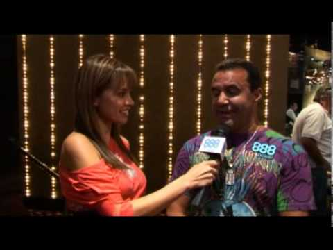 888 Poker  Annette with Jeff Fenech at the Celebrity Poker Challenge