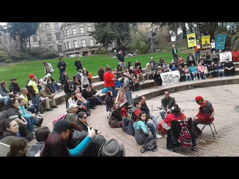 rally to support standing rock